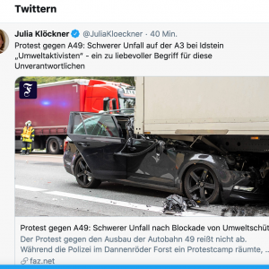 Autobahn A3 Umweltaktivisten Terror Um Wald Statt Asphalt Verursacht Fast Todlichen Unfall Kriegsberichterstattung Com